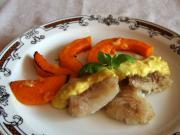 Alaska cod with curry sauce
