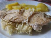 Oven-Roasted Chicken Breasts with Sauerkraut