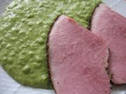 Smoked Meat with Pea Mash in Steamer