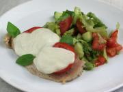 Chicken breasts with tomato and mozzarella