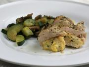 Chicken breasts stuffed with cheese scrambled eggs