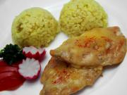 Chicken breasts in cheese coating