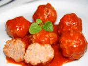 Meat Balls in Diabolical Sauce