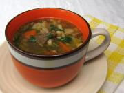 Oyster mushroom soup with rajbanička (noodles)