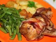 Stuffed Quail in Bacon Coating