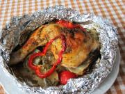 Stuffed Chicken Thighs in Aluminium Foil