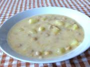 Potato-chickpea sweet and sour soup