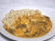 Tofu-mushroom sauce