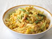 Creamy mango and vegetable salad