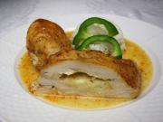 Marinated chicken breasts with mozzarella
