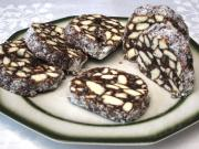 Biscuit Salami with Walnuts and Coconut