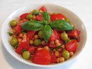 Chickpea salad with Tomatoes