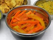 Carrot-potato sabzi in tomato sauce