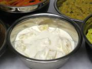 Pineapple sauce with yogurt