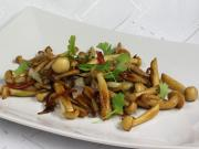 Fried Shimeji mushrooms