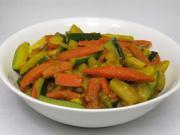 Vegetable sabzi with zucchini