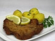 Fried veal schnitzel