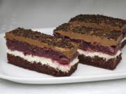 Cream curd- sourcherry slices