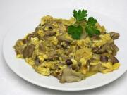 Scrambled mushrooms from bolete