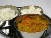 Spicy peas with carrots