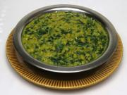 Red lentils with spinach