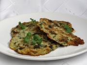 Potato pancakes with ramsons