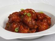 Cauliflower in manchurian sauce