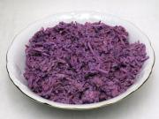 Coleslaw salad from red cabbage