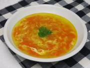 Egg soup with carrots