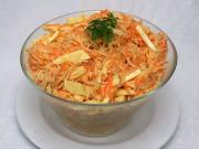 Celery carrot salad with cheese