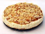 Unbaked caramel cheesecake